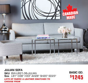 Canadian made sofas, sectionals & accent chairs Now 20-40% OFF!