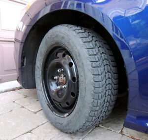 15inch steel rims with winter tires almost brand new