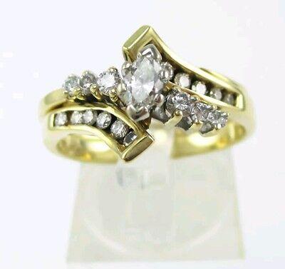 14k Gold Close Set - Estate 14k Yellow Gold Natural .50ctw Diamond Wedding Set 5.1g CLOSE OUT PRICE
