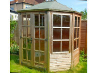 Beautiful Octaganel Summer House 8ftx6ft. Already dismantled. Delivery Possible.
