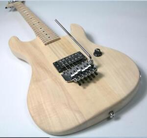 2Stock 5150 Electric Guitar Kits Unfinished Guitar Floyd Rose Bridge Assembled