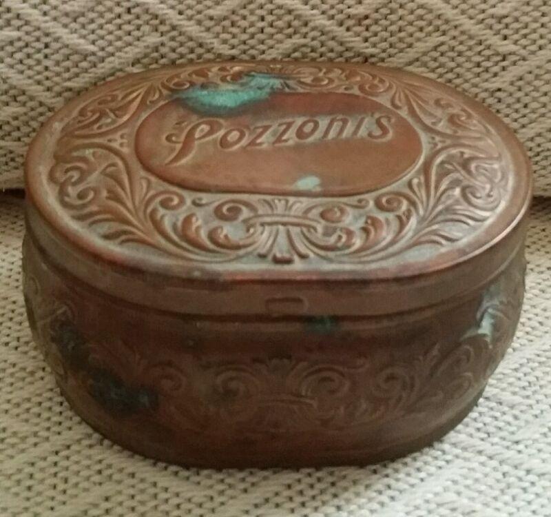 Vintage Pozzonis Advertising Tin