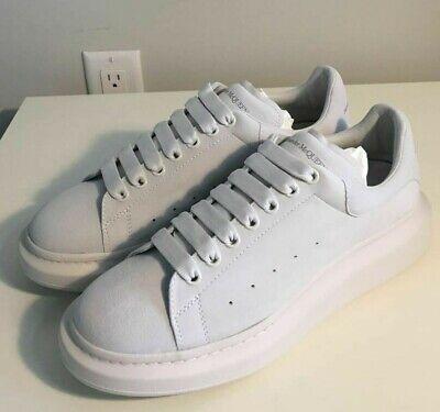 Brand-new Men's Alexander McQueen Ivory Suede Larry Sneakers in US 11/Euro 44