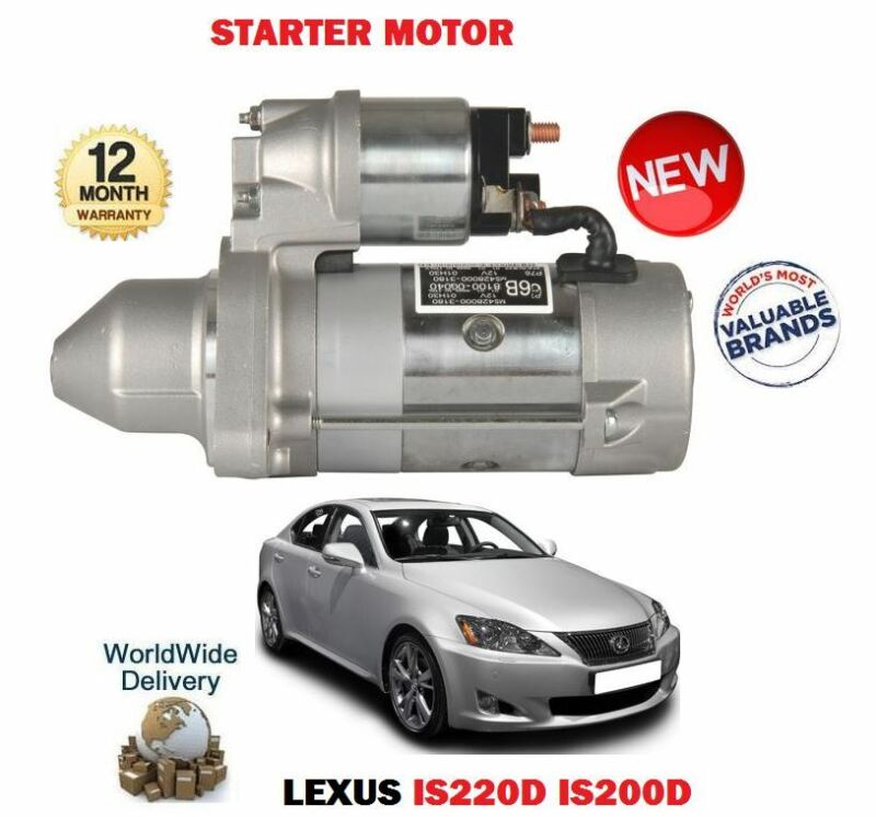 FOR LEXUS IS200D IS220D 2.2D 2005-> NEW STARTER MOTOR 28100-0G040 28100-0R010