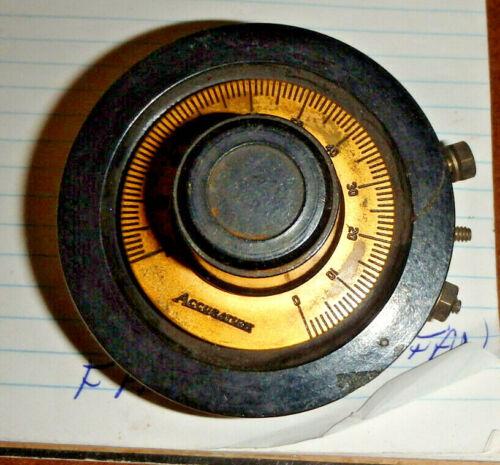 Vintage General Radio Type 214 Rheostat Potentiometer 0-380 ohm