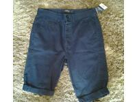 Brand new with tags mens navy blue shorts from topman rrp £30