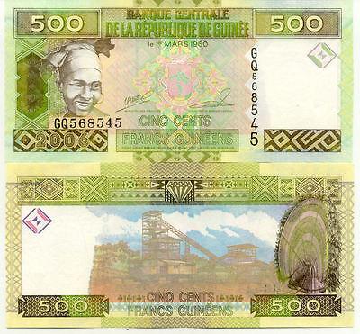 Billet banque GUINEE GUINEA 500 FRANCS 2006 NEUF NEW UNC