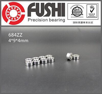 684zz Bearing 4x9x4 Mm Abec-5 10 Pcs Miniature 684 Z Zz Ball Bearings 684-2z