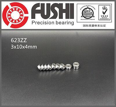623zz Bearing 3x10x4 Mm Abec-5 10pc Miniature 623 Z Zz Ball Bearings 623-2z
