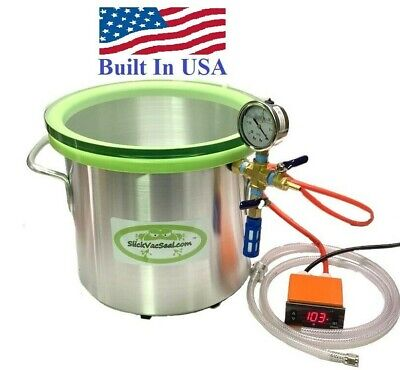3- Gal Heated Vacuum Chamber Digital Temperature Controller W- Temp Glass Lid