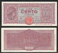 Luogotenenza - 100 Lire ,italia Turrita, 1944 Fds (1) -  - ebay.it