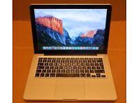 Macbook 13 inch mac pro 16gb ram 240gb SSD 500gb hd Intel 2.4ghz i5 processor late 2011 -2012 laptop
