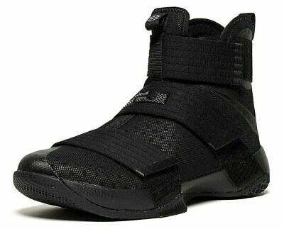 NIKE LeBron Soldier 10 'Black Space' TRIPLE BLACK 844374 001 UK11.5 EU47 NEW