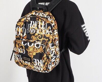 Versace Linea Heritage Print Backpack Bag