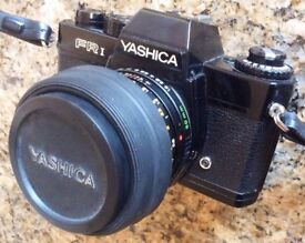YASHICA FR1 SLR CAMERA + ACCESSORIES FOR SALE