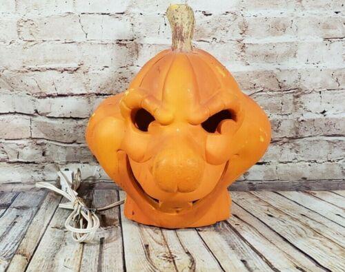 Vintage 1995 Casper Stinkie Stinky Decorative Pumpkin light up Foam Ghost Movie