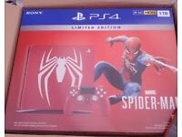 SONY Marvel's Spider-Man Limited Edition PS4 Slim 1tb Console Bundle (Brand New) (Spiderman)