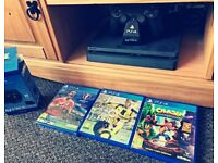 PS4 500GB, 3 Games & Charging Stand Good Condition