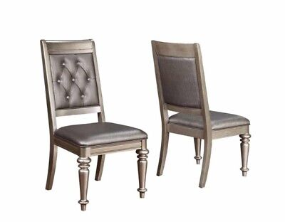 Danette Metallic Upholstered Dining Side Chair by Coaster 106472 - Set of 2