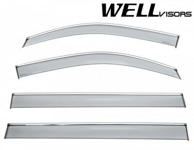 Fit 15-18 Suburban Yukon XL Escalade ESV WellVisors Chrome Trim Window Visors