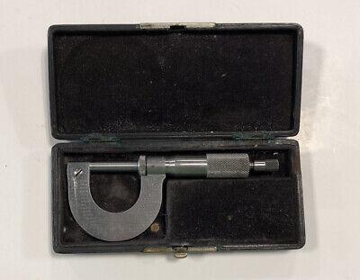Vintage Brown Sharpe Mfg No.10 Micrometer With Vintage Padded Case
