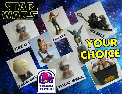 Taco Bell 1999 STAR WARS Episode 1 TATTOOINE Phantom Menace YOUR Toy CHOICE