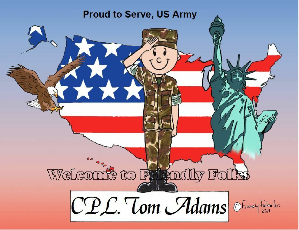 Personalized US Army Picture - Makes A Great Gift  - $10.50