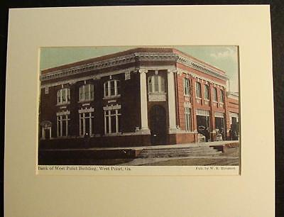Bank Of West Point Building  West Point  Georgia  Ga   Print