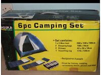 6 PIECE CAMPING SET STILL IN BOX