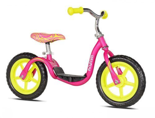 Girls 12 inch KaZAM Balance Bike - Pink and Yellow