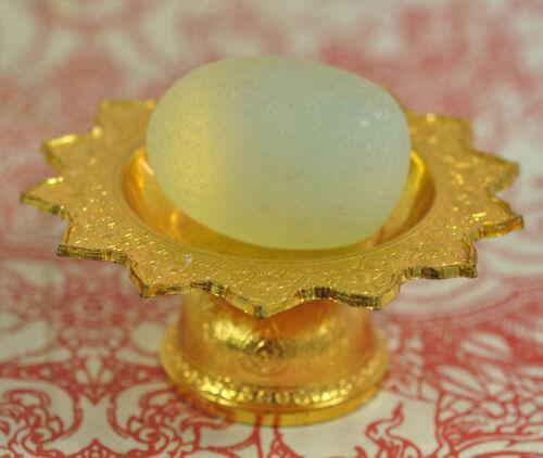 Mae khong River Stone Naga Egg Talisman Magic Gem Jewelry Thai Buddha Amulet