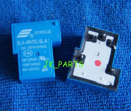 2pcs ORIGINAL 48VDC Relay SLA-48VDC-SL-A 5Pins 30A/250VAC SONGLE RELAYS