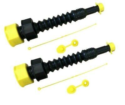 The Original Ez-pour Gas Can Spout Flexible Universal Replacement Kit 2 Pack