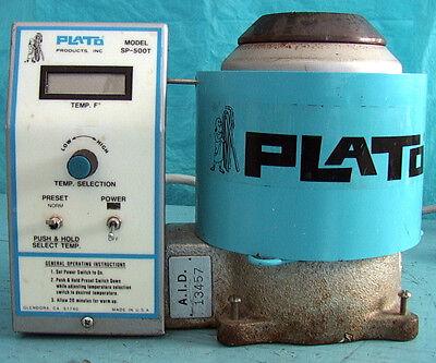 Plato Solder Pot Mn Sp-500t 350 Watt Lcd Display 2.25 Diameter Variable Temper