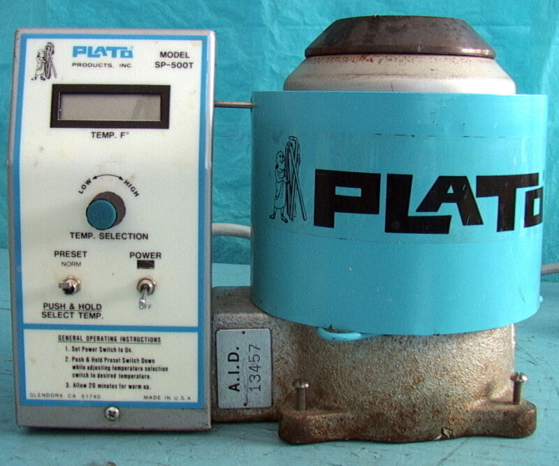 "Plato Solder Pot m/n SP-500T 350 Watt LCD display 2.25"" diameter variable temper"