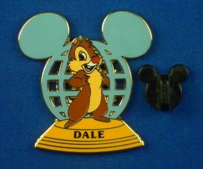 Dale Chipmunk WDW Resort Ear Globe LE-3500 on card Pin # 72229 - Chipmunk Ears