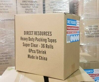 36 Rolls Moving Storage Packing Tape - Heavy Duty Shipping Packaging 2in 60 Yard