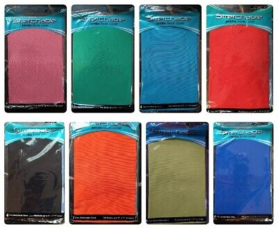 Stretchable Fabric Jumbo Size Book Cover, Assorted Colors Fits 9x11+, NEW 5 Pack