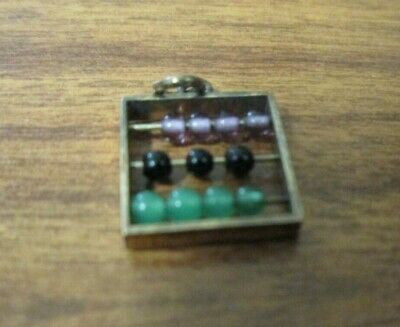 working abacus sliver  charm