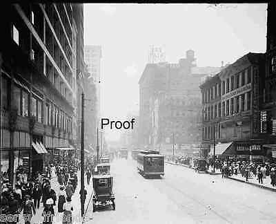 Old Chicago photo Downtown State Street Trolley Car Union TractionVintage   1914