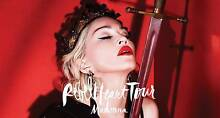 2x Madonna Rebel Heart PLATINUM Tickets Sydney Brighton-le-sands Rockdale Area Preview