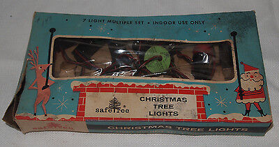 VINTAGE CHRISTMAS LIGHTS - SAFETREE No. 1705 INDOOR LIGHTS  - 1950's