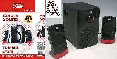 SubWoofer 800W Lautsprecher Speaker 2.1 Stereo Soundsystem PC Notebook DVD    #B