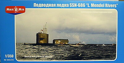 "U Boat SSN-686 "" Mendel Rivers "", micro-me, 1:3 50, Plastic,Etched Parts,NEW"