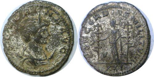 270-275 AD Roman Imperial Severina Wife Of Aurelian Concordia Antoninianus