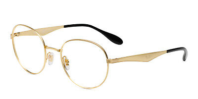 Authentic Ray-Ban Eyeglasses RX 6343 2860 50mm Gold Metal / Demo Lens