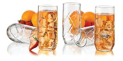 12-Piece Drinking Glasses Set 16 Oz Durable Clear Water Juice Glass Beverage NEW