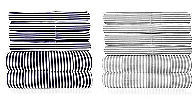 1500 Collection - Loft Collection 6 Piece Sheet Set 1500 Thread Count Classic Stripe