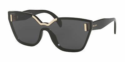 Prada sunglasses PR16TS 1AB5S0 Black Gold cat eye butterfly PR 16