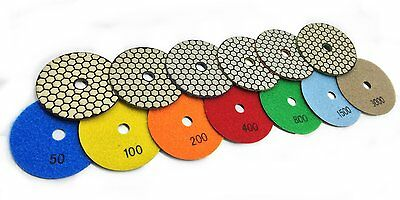 10 Sets 70 Pieces Diamond Polishing Pads Dry Pad Granite Concrete Stone Marble